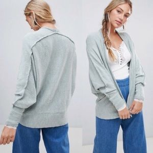 NWT Free People Motions Knit Cardigan Oasis Combo